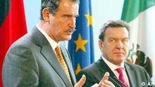 Vicente Fox und Gerhard Schröder