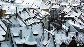 Schnee in Freiburg