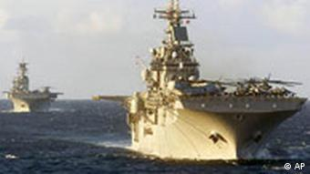 US amphibious assault ships