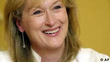 Actress Meryl Streep responds to a question during an interview Oct. 10, 2002, in Beverly Hills, Calif. Streep co-stars in two films this December: as a highly fictionalized version of author and journalist Susan Orlean in Adaptation, and as a book editor in the adaptation of the Pulitzer Prize-winning novel The Hours. (AP Photo/Ric Francis)