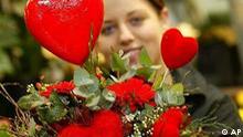 Blumenstrauss mit Herzen Valentinstag