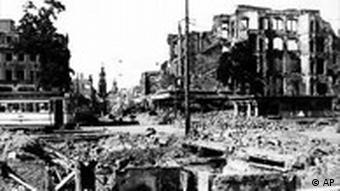 Dresden nach den Bombenangriffen