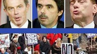 Collage - Blair, Berlusconi und Aznar