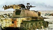 Irakischer Panzer aus dem Golfkrieg 1991