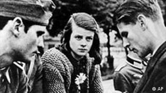 Weiße Rose Hans und Sophie Scholl und Christian Probst