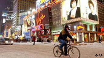 Times Square im Schnee