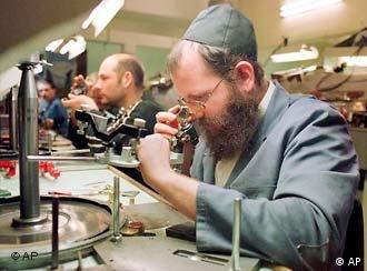 Many Antwerp Jews work in the city's diamond trade