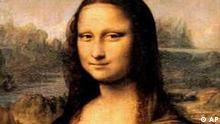 NEWS USE ONLY, FOR NEWS ITEMS RELATED TO SUBJECT OF THE IMAGE Mona Lisa painting by Leonardo da Vinci, photo on black