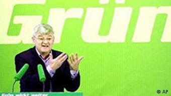 Landesdelegiertenkonferenz der Grünen: Joschka Fischer