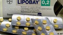 Bayer Lipobay Medikamentenschachtel Medikament Arznei Cholesterin