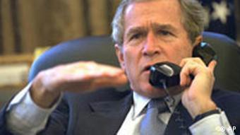 Bush mustert die Verbündeten