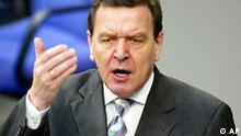 Schröder im Bundestag Regierungserklärung