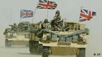 British troops in the Middle East