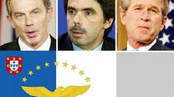 Collage - Blair, Aznar und Bush