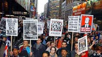 Anti-Kriegsdemonstrationen in New York