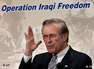 Rumsfeld has not felt a need to take the blame for Abu Ghraib