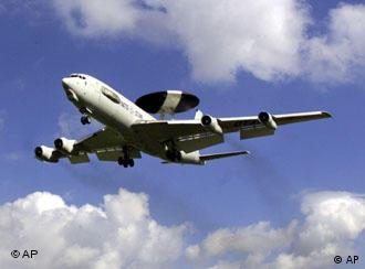 NATO AWACS circle the sky over Greece