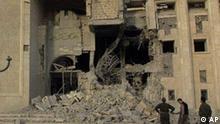 Bombenschäden in Tikrit
