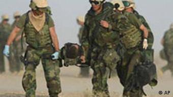 Verwundeter US-Soldat