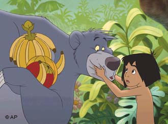 Baloo and Mowgli in the animated movie 'The Jungle Book' from 1967. (Picture: Buena Vista, HO)