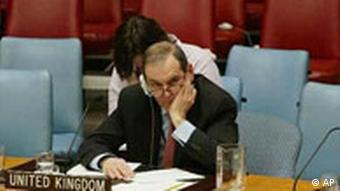 Jeremy Greenstock im Security Council der UN