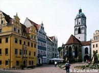 A praça central de Meissen, cidade natal de Hahnemann