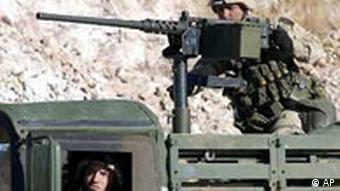 USA Soldat auf Laster in Nord Irak
