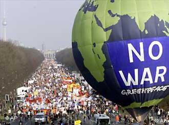 Alemães contra a guerra: debate deve ficar fora das subsidiárias nos EUA