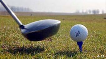 Golf Sport Schläger und Ball