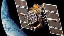 GPS Satellit im Weltraum