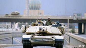 US Panzer in Bagdad im April 2003
