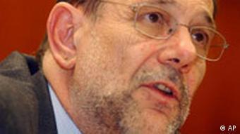 EU-Außenminister Javier Solana in Luxemburg