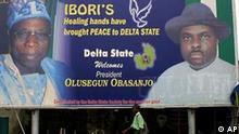 Wahlen in Nigeria Wahlplakat