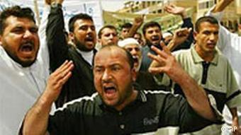 Anti-amerikanischer Protest in Bagdad