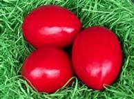 Пасхальные яйца красного цвета