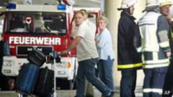 Feuer im Düsseldorfer Flughafen