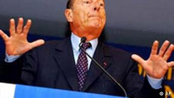 Gipfel in Brüssel Jacques Chirac