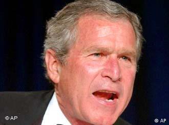 Continúa la búsqueda de armas de destrucción masiva, dijo Bush.