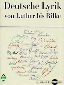 Buchcover: Deutsche Lyrik von Luther bis Rilke (CD-ROM)