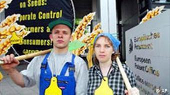 Greenpeace Demonstration in München gegen Genmais