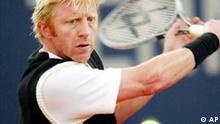 Boris Becker spielt Tennis