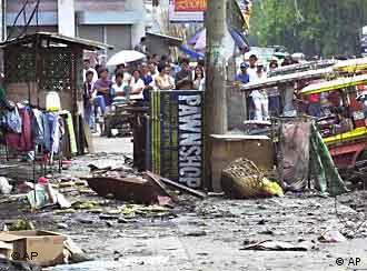 Abu Sayyaf is blamed for numerous terrorist attacks across the Philippines such as this one in 2003
