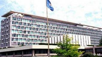 General view of the World Health Organization (WHO) headquarters at Geneva, Switzerland