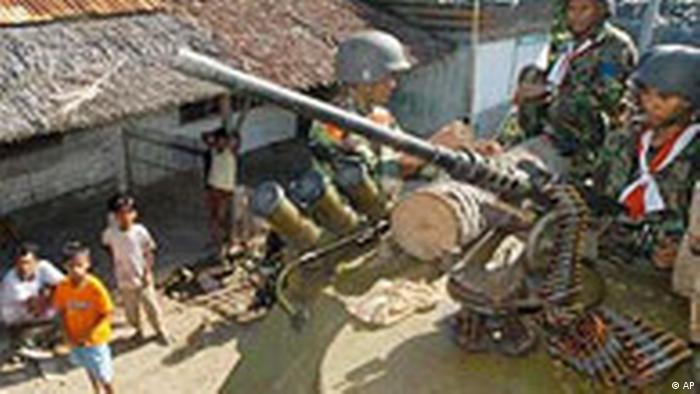 Indonesisches Militär erreicht Aceh Provinz
