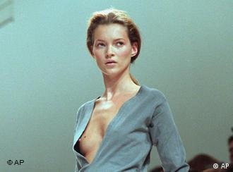 The minimalist Sander look works for Kate Moss.