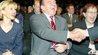 SPD Geburtstag Gerhard Schröder Doris und Heide Simonis