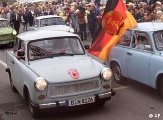 Icon of the communist east: a boxy Trabant car.