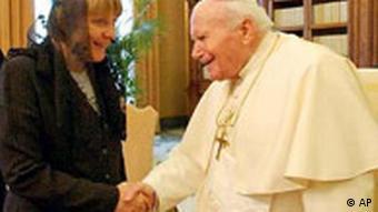 Angela Merkel beim Papst