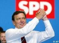 На внеочередном съезде СДПГ 1 июня 2003 года - председатель партии и канцлер ФРГ Герхард Шрёдер призывает социал-демократов поддержать его программу реформ