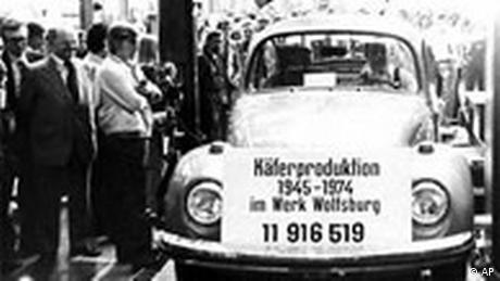 Letzter VW Käfer in Wolfsburg (AP)